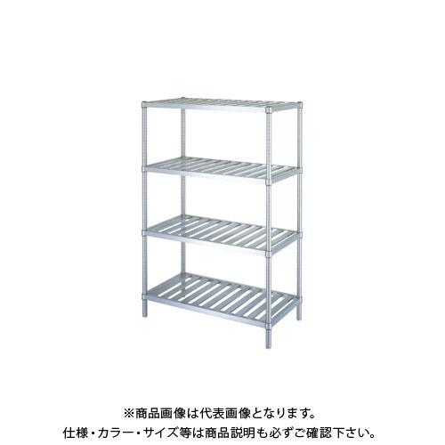 【直送品】シンコー ステンレスラック 738×338×1800 RS4-7535