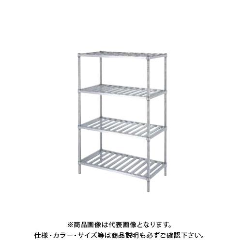 【直送品】【受注生産】シンコー ステンレスラック (スノコ棚4段) 588×338×1800 RSN4-6035