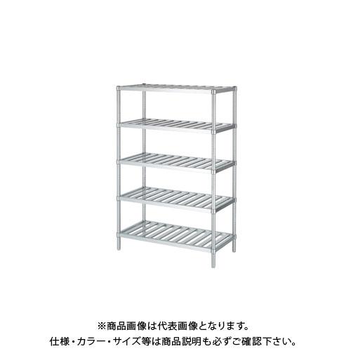 【直送品】【受注生産】シンコー ステンレスラック (スノコ棚5段) 738×338×1800 RSN5-7535