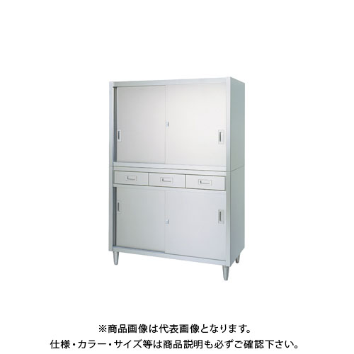 【直送品】【受注生産】シンコー ステンレス保管庫(二段式) 1500×450×1750 VAD-15045