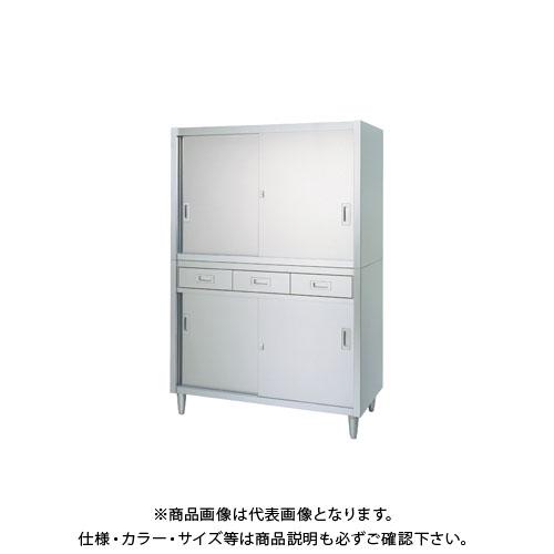 【直送品】【受注生産】シンコー ステンレス保管庫(二段式) 900×450×1750 VAD-9045