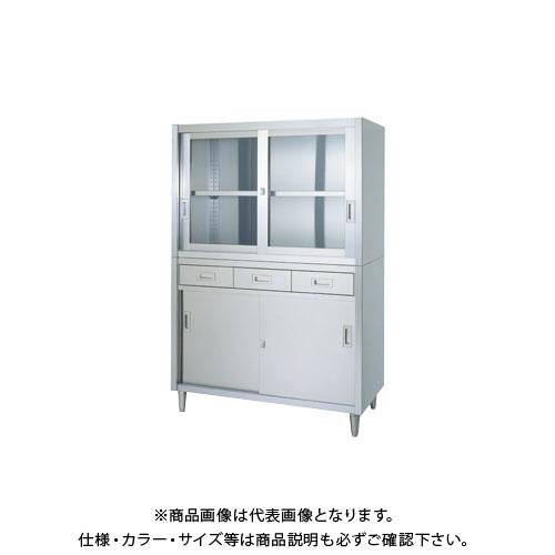 【直送品】【受注生産】シンコー ステンレス保管庫(二段式) 1800×450×1750 VADG-18045