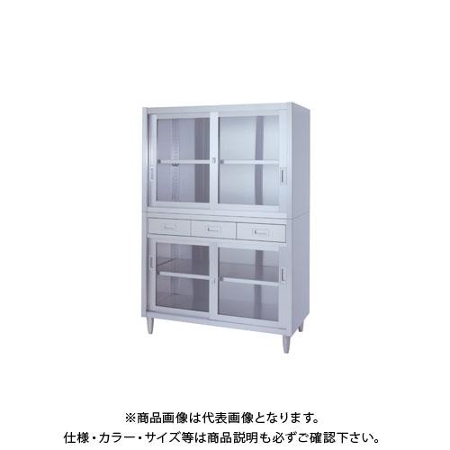 【直送品】【受注生産】シンコー ステンレス保管庫(二段式) 1200×450×1750 VADGG-12045