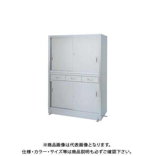 【直送品】【受注生産】シンコー ステンレス保管庫(二段式) 1800×450×1750 VD-18045