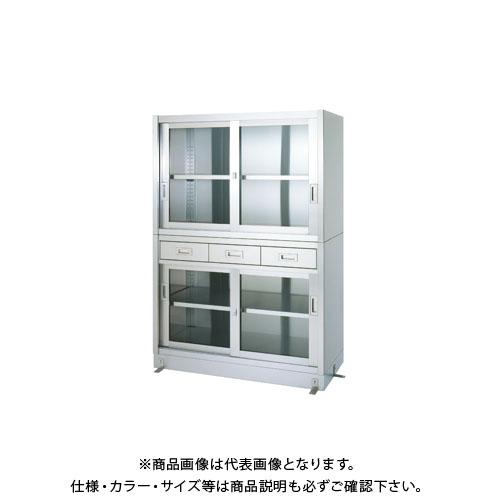 【直送品】【受注生産】シンコー ステンレス保管庫(二段式) 1200×450×1750 VDGG-12045