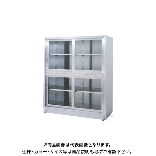 【直送品】【受注生産】シンコー ステンレス保管庫(二段式) 1500×450×1750 VGG-15045