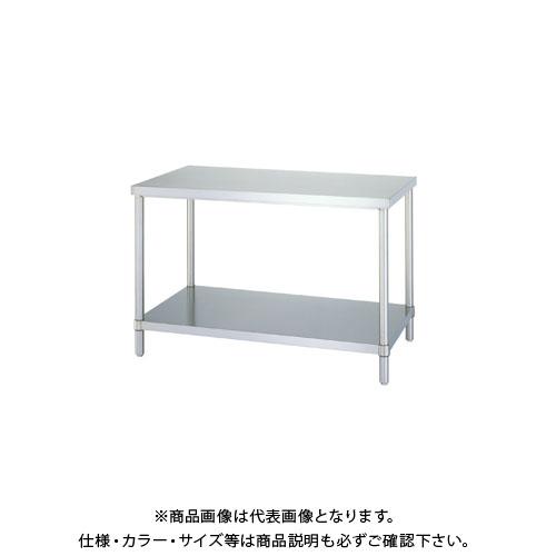 【直送品】シンコー ステンレス作業台(ベタ棚仕様) 1500×450×800 WB-15045