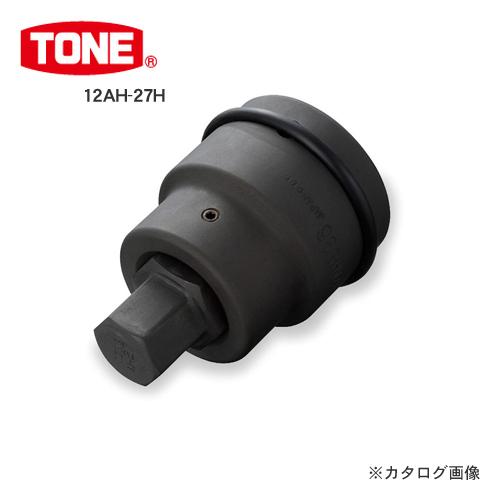 """TONE トネ 38.1mm(1 1/2"""") インパクト用ヘキサゴンビットソケット(差替品) 12AH-27H"""