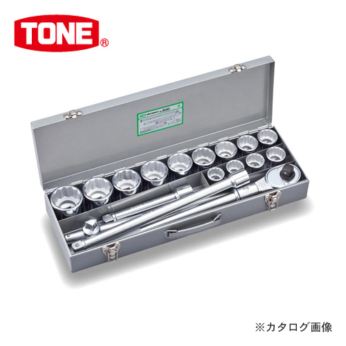 """TONE トネ 19.0mm(3/4"""") ソケットレンチセット [17点] インチサイズ 200"""
