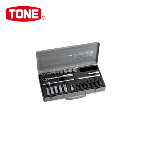"""TONE トネ 9.5mm(3/8"""") ミックスソケットレンチセット [27点] MX300"""