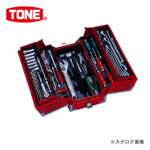 """TONE トネ 9.5mm(3/8"""") ツールセット オートメカニック用(レッド) TSA3331"""