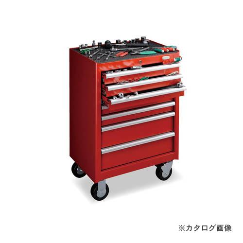 【直送品】トネ TONE ツールキャビネットセット(レッド) TCS910