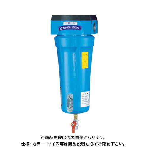 日本精器 高性能エアフィルタ25A1ミクロン(ドレンコック付) NI-TN5-25A-DL-DV