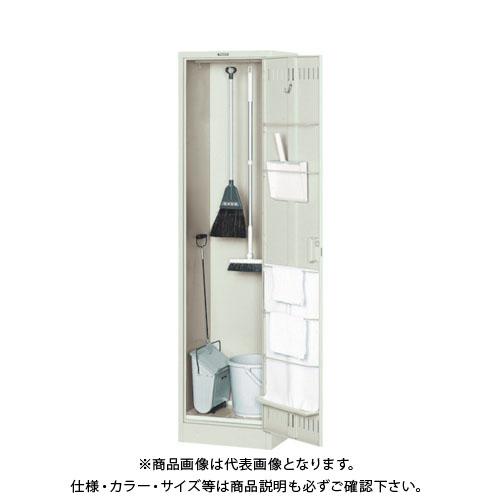 【個別送料2000円】【直送品】 TRUSCO 掃除用具ケース 浅型 パイプ付W455XD400XH1790 NKHC