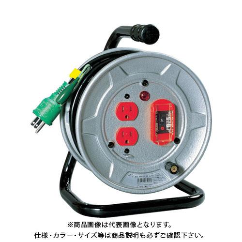 日動 電工ドラム 標準型100Vドラム アース過負荷漏電しゃ断器付 10m NS-EK12