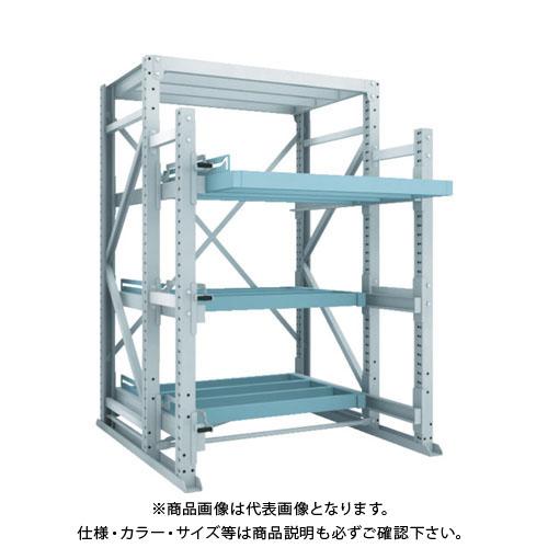 【運賃見積り】【直送品】 TRUSCO フルスライダーラック スライド3段 スチール板無し 連結 NSFS-21-3R