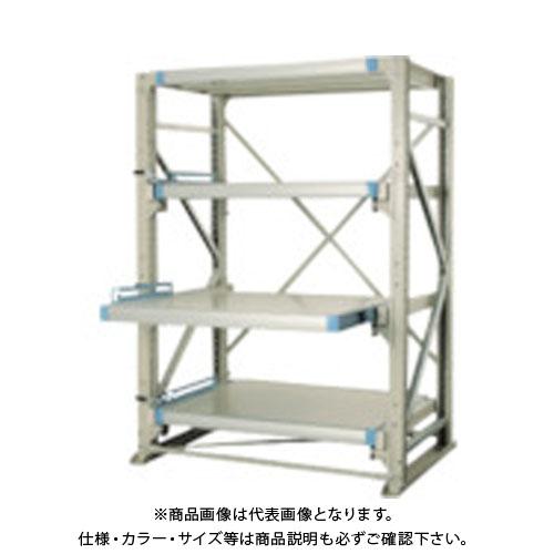【運賃見積り】【直送品】 TRUSCO スライダーラック スライド3段 スチール板付 連結 NSHP-21-3R