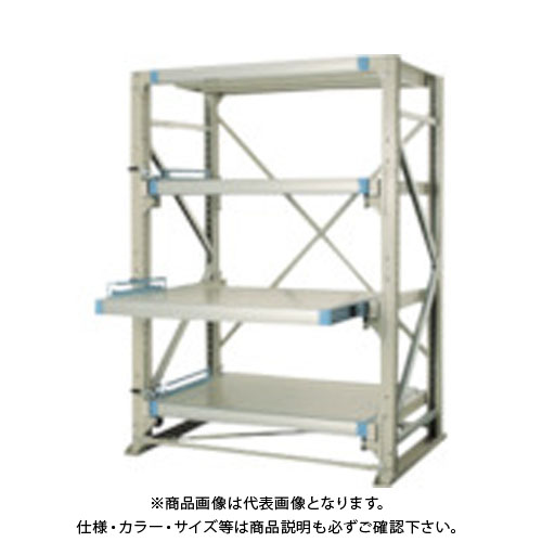 【運賃見積り】【直送品】 TRUSCO スライダーラック スライド4段 スチール板付 単体 NSHP-24-4K