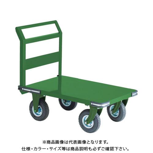 【直送品】TRUSCO 鋼鉄製運搬車 900X600 Φ223空気入タイヤ 鋳物金具 OH-2AR