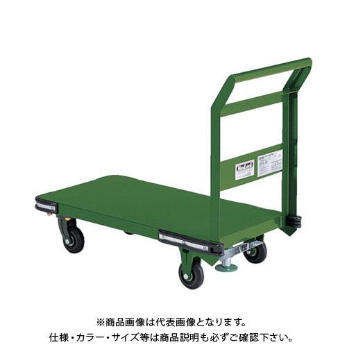 【直送品】TRUSCO 鋼鉄製運搬車 800X450 Φ100鋳物車輪 S付 OHN-3S