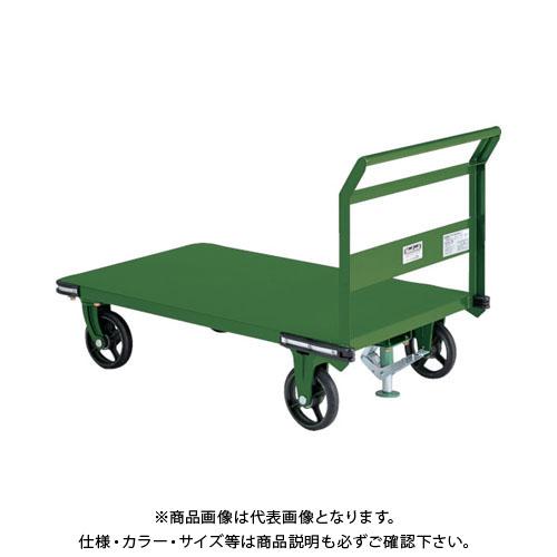 【直送品】TRUSCO 鋼鉄製運搬車 1400X750 Φ200鋳物車輪 S付 OHN-1LS