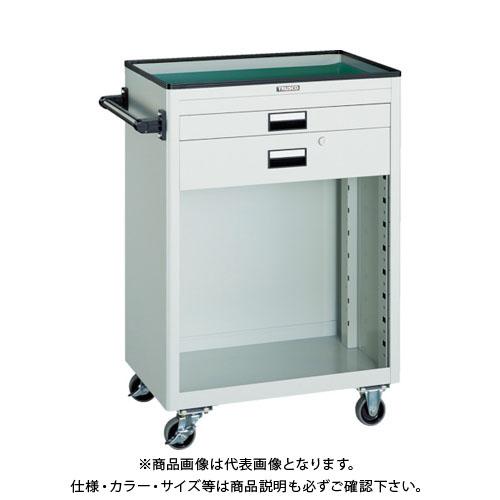 【直送品】 TRUSCO ツールワゴン 600X400 浅1深1引出 幕板付 W NTS-611P-W