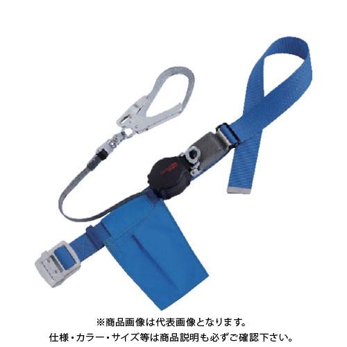 【納期約1ヶ月】ツヨロン ワンハンドリトライト安全帯 青 ORL-593SV-BL4-BP