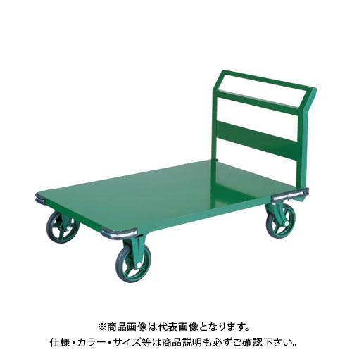 【直送品】TRUSCO 鋼鉄製運搬車 900X600 ハンドル側自在車 鋳物車輪 OH-2R