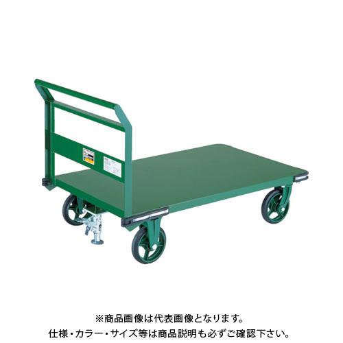 【直送品】TRUSCO 鋼鉄製運搬車 900X600 ハンドル側自在車 鋳物車輪 LS付 OH-2RSS