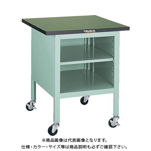 【直送品】 TRUSCO OWC型小型作業台 棚板付 700X700 キャスター付 OWC-7070B