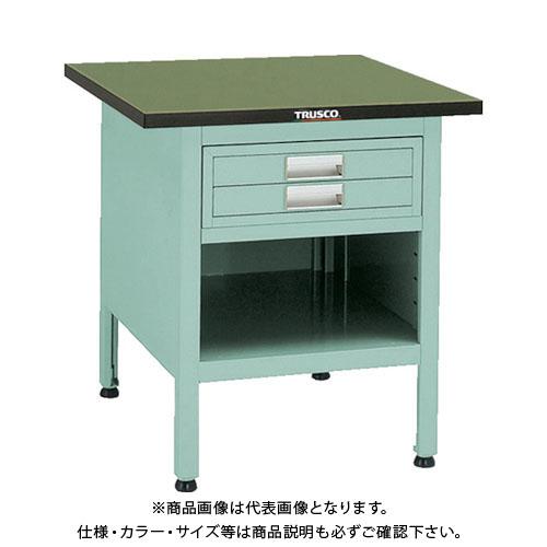 【直送品】 TRUSCO OW型小型作業台 2段引出付 700X700XH740 OW-7070E