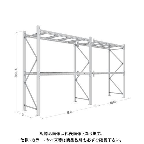 【運賃見積り】【直送品】 NF パレットラック1ton用単体 P6-30X25A09-2