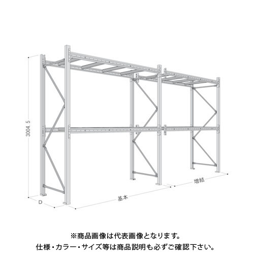 【運賃見積り】【直送品】 NF パレットラック1ton用単体 P6-30X25A11-2