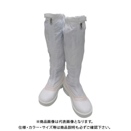 【運賃見積り】【直送品】ゴールドウイン 静電安全靴ファスナー付ロングブーツ ホワイト 24.5cm PA9850-W-24.5
