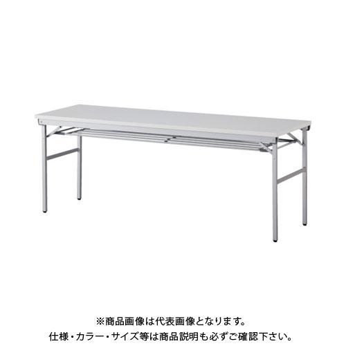 【運賃見積り】【直送品】 アイリスチトセ 折畳みテーブル ワイドタイプ 棚付 奥行600mm ホワイト OTNK-1860T-W