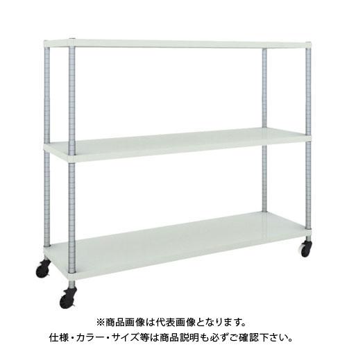【直送品】 TRUSCO フェニックスラック 1500X450 3段 U車輪付 W色 PER-4543-U125-W