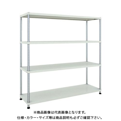【直送品】 TRUSCO フェニックスラック 1500X450 4段 W色 PER-5544-W