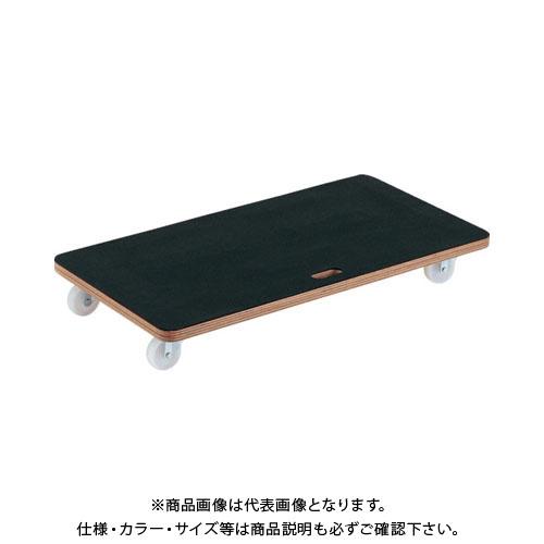 TRUSCO 合板平台車プティカルゴ 900X450 ゴム張り ナイロン車 PCG-4590