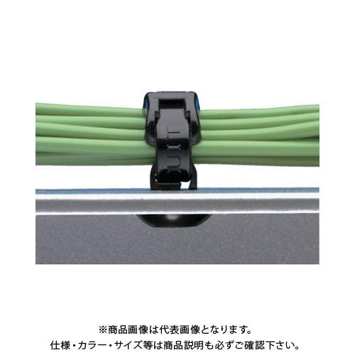 パンドウイット 押し込み型固定具 耐熱性黒 (1000個入) PBMS-H25-M30