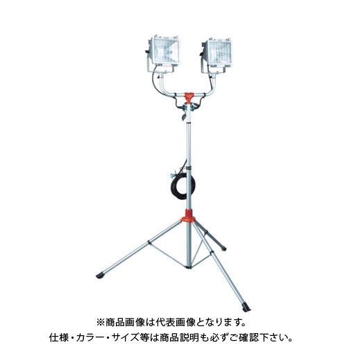 【運賃見積り】【直送品】ハタヤ 防雨型スタンド付ハロゲンライト 500W×2灯 100V電線5m PHCX-505N