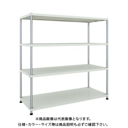 【直送品】 TRUSCO フェニックスラック 1500X600 4段 W色 PER-5564-W