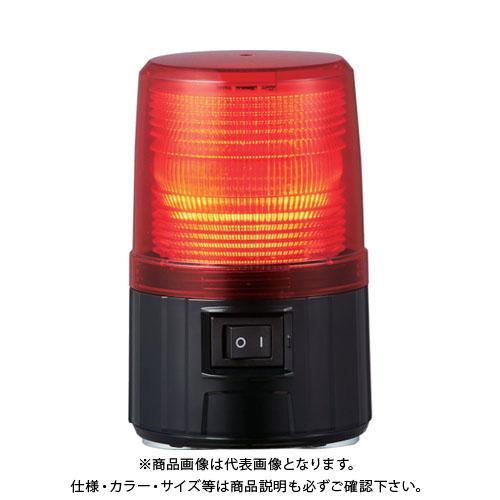 パトライト 電池式フラッシュ表示等 レッド PFH-BT-R
