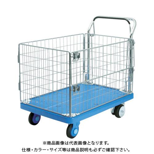 【運賃見積り】【直送品】カナツー 静音PLA300・網M1・ドラムブレーキ付 PLA300-AMIMI-DB