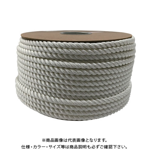 ユタカメイク ナイロン3ツ打ロープドラム巻 12φ×100m PRJ-6