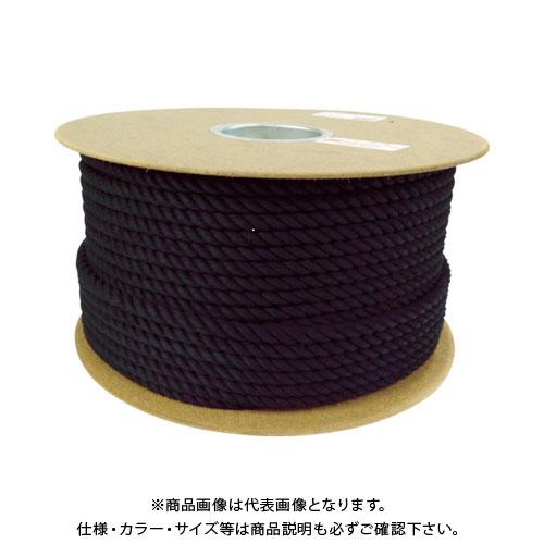 ユタカメイク ロープ 綿ロープドラム巻 9φ×100m ブラック PRC-51