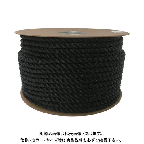 ユタカメイク ポリエチレンロープドラム巻 12mm×100m ブラック PRE-64