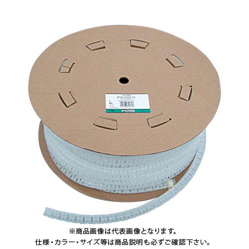 パンドウイット 電線保護チューブ スリット型スパイラル パンラップ 束線径20.6Φmm 30m巻き 黒 PW100F-C20