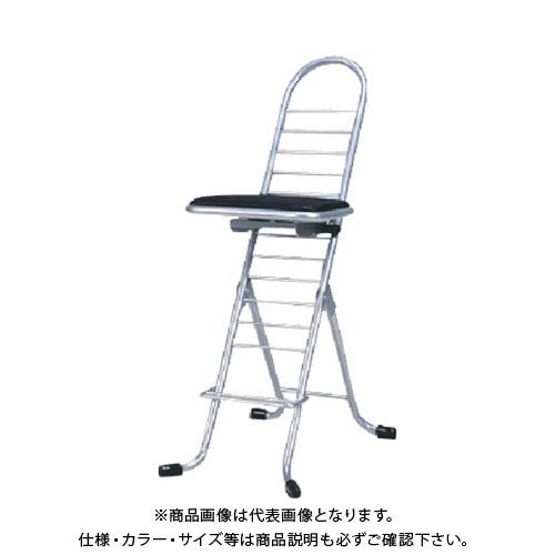 【運賃見積り】【直送品】 セイコー プロワークチェア スゥイング 銀 PW-600S:SV
