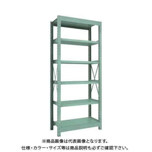 【直送品】 TRUSCO R3型中量棚 900X450XH2100 6段 単体 R3-7356