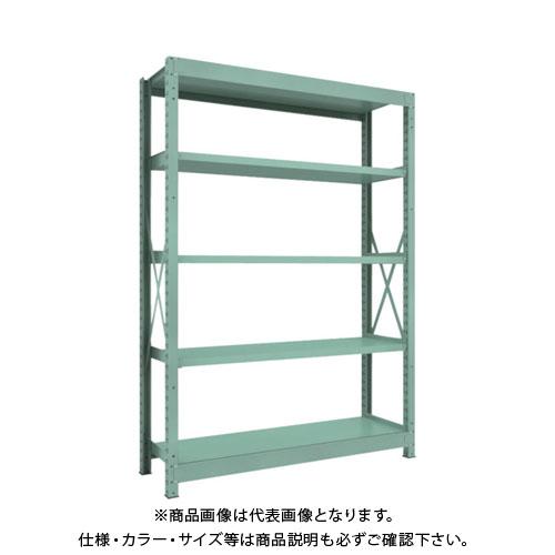 【運賃見積り】【直送品】 TRUSCO R3型中量棚 1500X450XH2100 5段 単体 R3-7555
